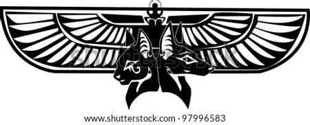 Basted and Anubis - stock vector