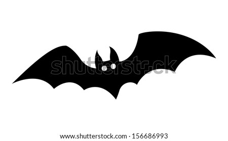 bat silhouettes - Halloween vector illustration - stock vector