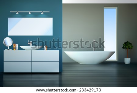 Bathroom - stock vector