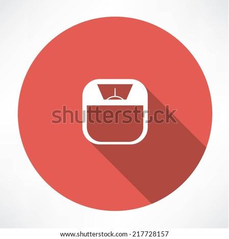bathroom digital scale - stock vector