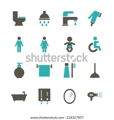 Bathroom Icon - stock vector