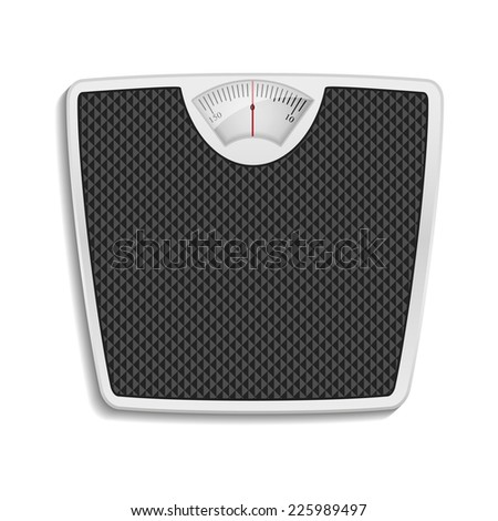 bathroom scale, eps10 - stock vector
