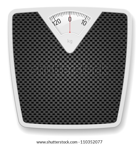 Bathroom Weight Scale. Illustration on white background - stock vector