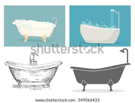 Bathtub - stock vector