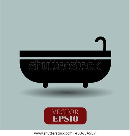 Bathtub icon, Bathtub icon vector, Bathtub icon symbol, Bathtub flat icon, Bathtub icon eps, Bathtub icon jpg, Bathtub icon app, Bathtub web icon, Bathtub concept icon, Bathtub website icon - stock vector