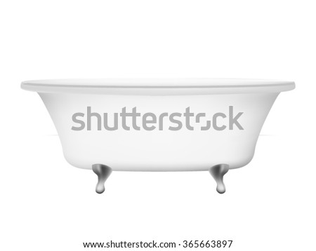 Bathtub isolated on white background - stock vector
