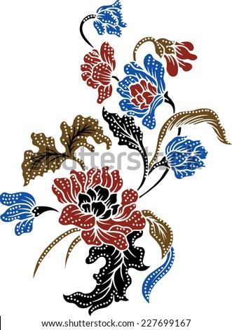 batik background design pattern for fabric. - stock vector