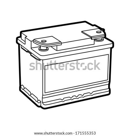 battery car - stock vector