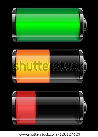 Battery charge status - vector illustration - stock vector