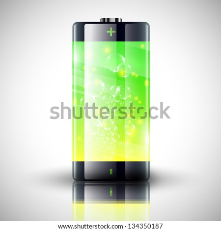 Battery charge status vector illustration - stock vector