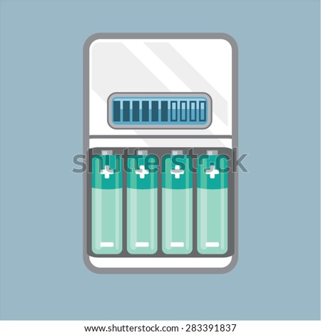 Battery Charger vector - stock vector