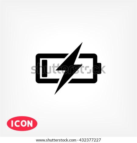 Battery Charging Icon, battery Charging icon flat, battery Charging icon picture, battery Charging icon vector, battery Charging icon EPS10, battery Charging icon graphic, battery Charging icon object - stock vector