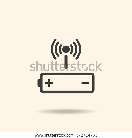 battery Icon, battery Icon Vector, battery Icon JPG, battery Icon JPEG, battery Icon EPS, battery Icon design. power management through a wi-fi network. icon. vector design - stock vector