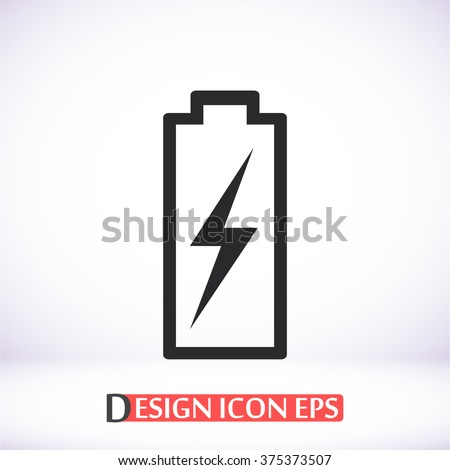 Battery icon, battery pictograph, battery web icon, battery icon vector, battery icon eps, battery icon illustration, battery icon picture, battery flat icon, battery design icon, battery icon art - stock vector