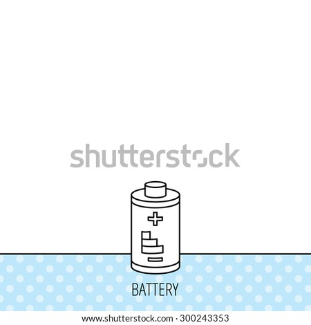 Battery icon. Electrical power sign. Rechargeable energy symbol. Circles seamless pattern. Background with icon. Vector - stock vector