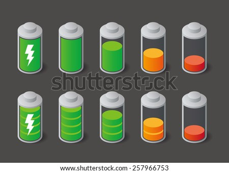 Battery icon, vector illustration - stock vector