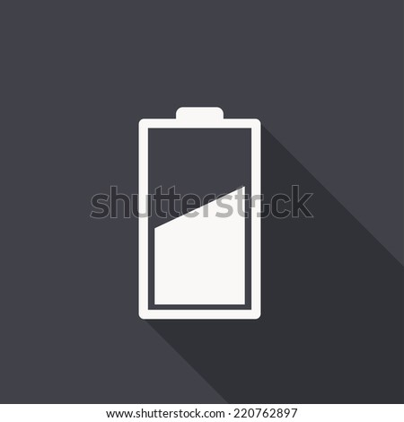 battery icon , vector illustration, flat design - stock vector