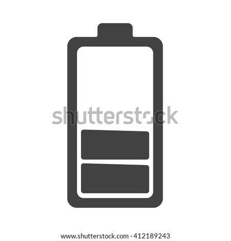 Battery icon Vector Illustration on the white background. - stock vector