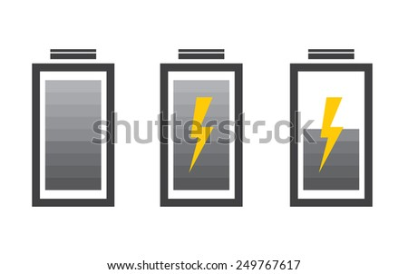 Battery icon with colorful charge level - stock vector