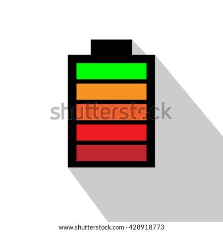 Battery Symbol. Vector illustration - stock vector