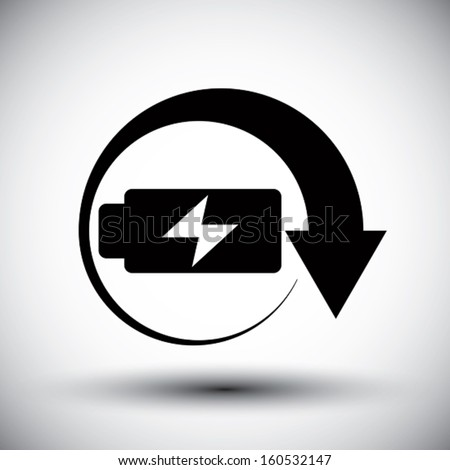 Battery vector simplistic symbol charge indicator icon.  - stock vector