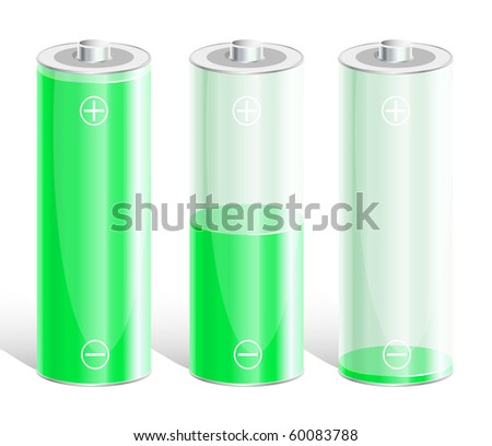 Battery with the level of charge. Vector illustration. EPS8 - stock vector
