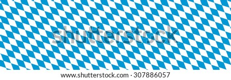 Bavarian Diamond Pattern Texture Panorama for Backgrounds, Banner and Website Heads - Rhombus in Blue and White  - stock vector