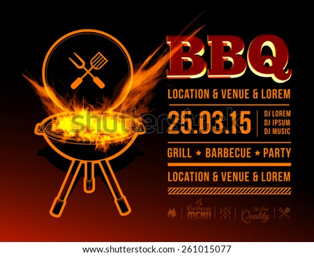 BBQ party - stock vector