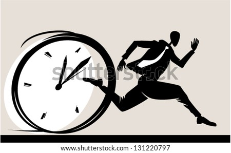 Be ahead of his time - stock vector