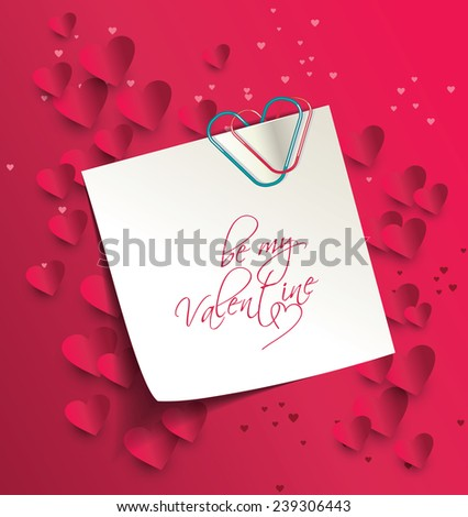 be my valentine - stock vector