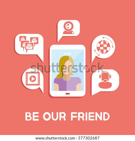 be our friend - stock vector