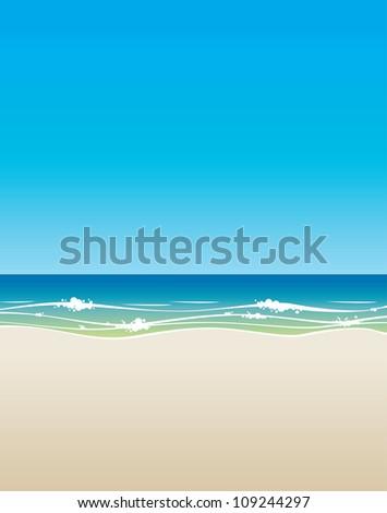 beach background vector - stock vector
