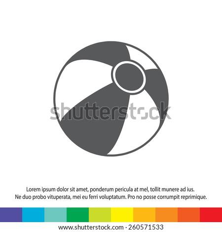 beach ball icon - stock vector