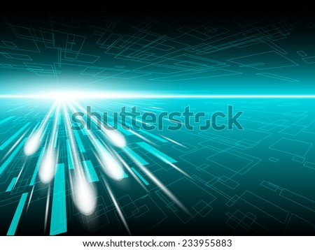 beam light abstract technology background - stock vector