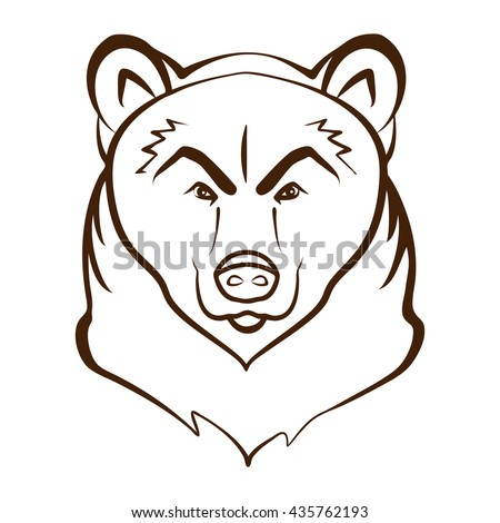 Bear Cartoon Head Outline Stock Photos Images Amp Pictures