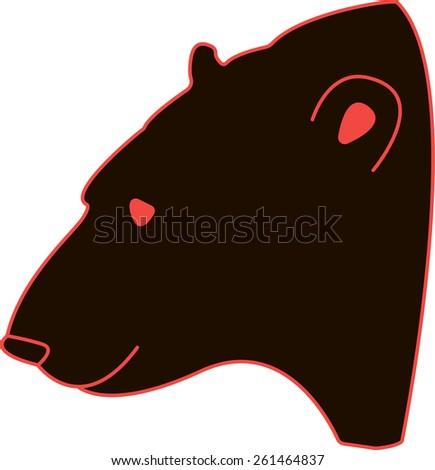 Bear head. vector illustration.  - stock vector
