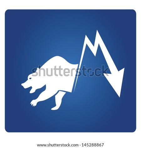 bear market symbol, stock market - stock vector