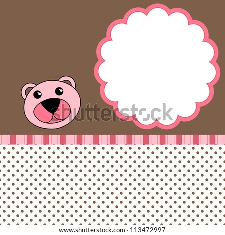 Bear scrapbook Layout - stock vector