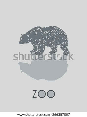 Bear -vector illustration - stock vector