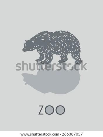 Bear -vector illustration - stock vector
