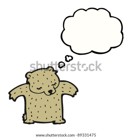 bear with thought bubble - stock vector