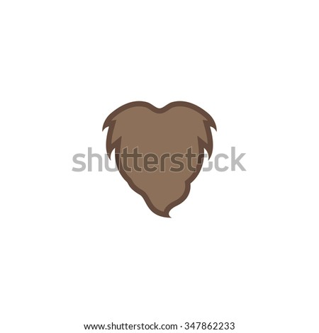 Beard Color vector icon on white background  - stock vector