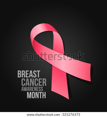 Beast Cancer Awareness Month - vector illustration - stock vector