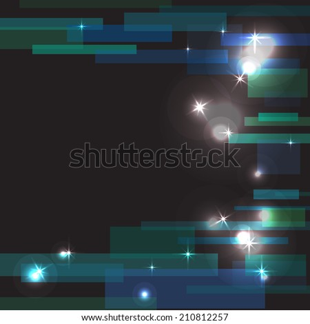 Beautiful abstract background of holiday lights. Abstract glowing lines - stock vector