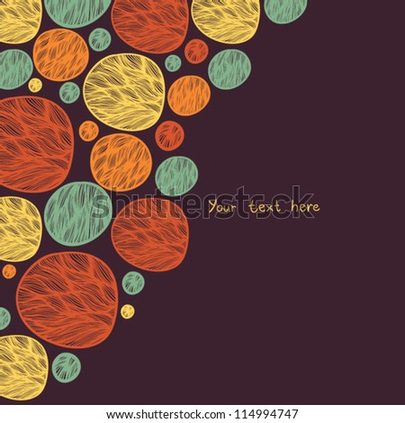 beautiful abstract background with circles - stock vector