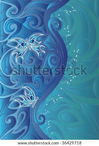 Beautiful abstract Butterfly illustration - stock vector