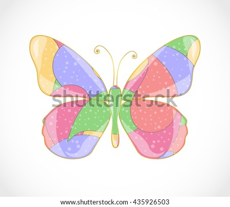 Beautiful abstract butterfly. Illustration 10 version - stock vector