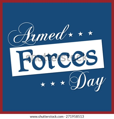 Beautiful abstract for Armed Forces Day with nice and creative navy blue colour background with red colour outlined. - stock vector