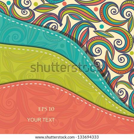 Beautiful abstract invitation card. eps10 - stock vector
