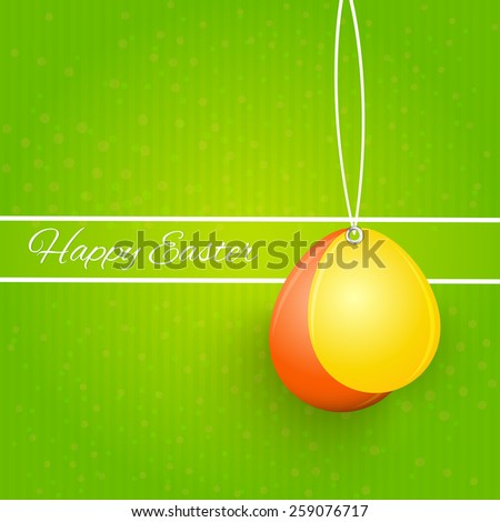 beautiful abstract of Easter with pair of balloons in a green colour background. - stock vector